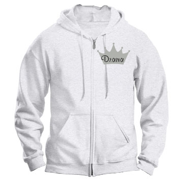 Drama Queen Sweater Unisex Gildan Heavy Blend Full Zip Hoodie