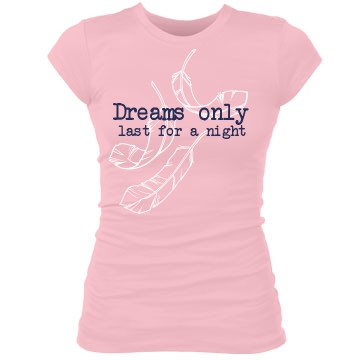 Dreams Last For A Night Junior Fit Bella Sheer Longer Length Rib Tee