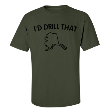 Drill Baby Drill-mens Unisex Port & Company Essential Tee
