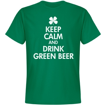 Drink Green Beer Unisex Anvil Lightweight Fashion Tee