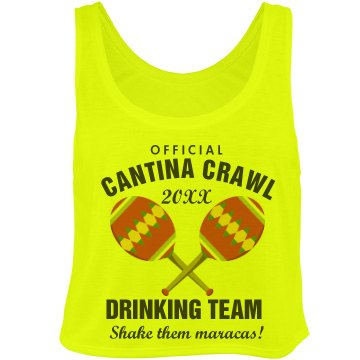 Drinking on Cinco De Mayo Bella Flowy Boxy Lightweight Crop Top Tank Top