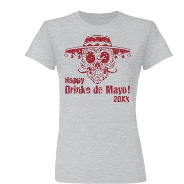 Drinko De Mayo w/ Back Junior Fit Basic Bella Favorite Tee