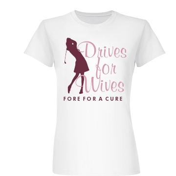 Drives For Wives Golf Junior Fit Basic Bella Favorite Tee