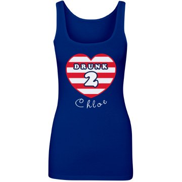 Drunk 2 Stripes Tank