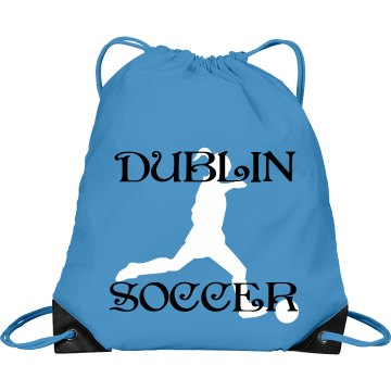 Dublin Soccer Bag Port & Company Drawstring Cinch Bag