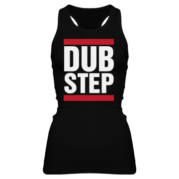 Dubstep Racerback Junior Fit Bella Sheer Longer Length Rib Racerback Tank Top