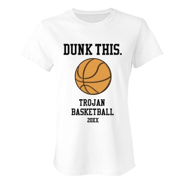 Dunk This Basketball Fan Junior Fit Bella Favorite Tee