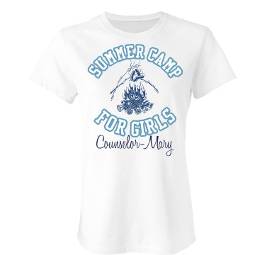 Summer Camp Tee Junior Fit Bella Sheer Longer Length Rib Tee