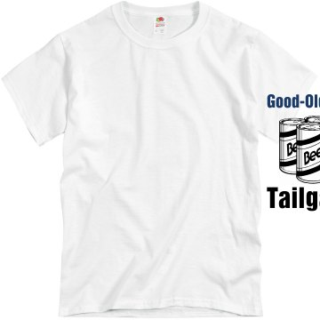 Old Fashion Tailgating Unisex Basic Gildan Heavy Cotton Crew Neck Tee