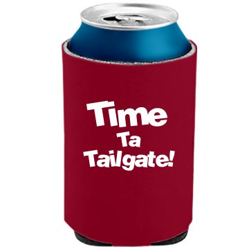 Time Ta Tailgate The Official KOOZIE Can Kooler
