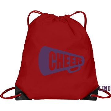 Drawstring Pink Cheer Bag Port &amp; Company Drawstring Cinch Bag