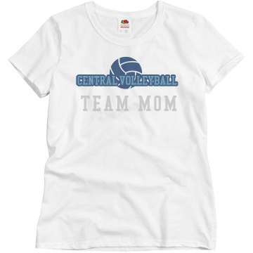 Central Volleyball Mom Misses Relaxed Fit Basic Gildan Ultra Cotton Tee