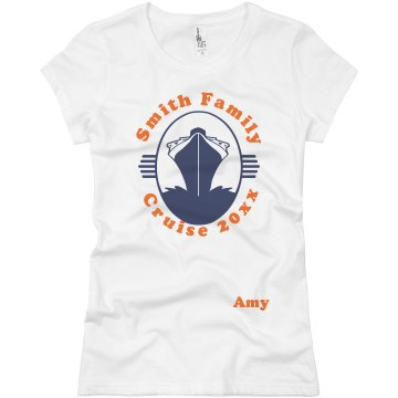 Smith Family Cruise Tee Junior Fit Basic Bella Favorite Tee