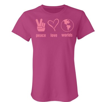 Peace Love Worlds Junior Fit Bella Sheer Longer Length Rib Tee