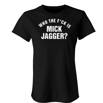 Who Is Mick Jagger? Junior Fit Bella Crewneck Jersey Tee
