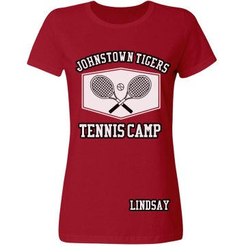 Johnstown Tigers Tennis Misses Relaxed Fit Gildan Ultra Cotton Tee