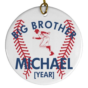 Big Brother Ornament Porcelain Circle Ornament
