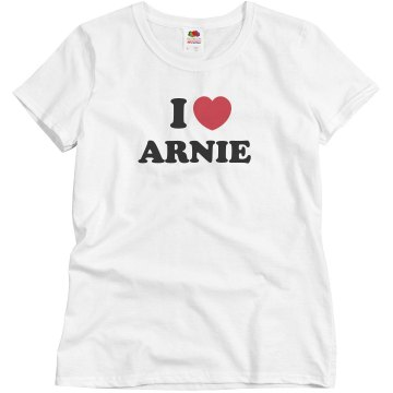 I Heart Arnie Misses Relaxed Fit Basic Gildan Ultra Cotton Tee
