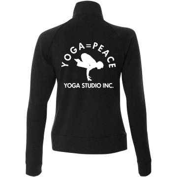 Yoga Studio Jacket Junior Fit Bella Cadet Zip Track Jacket