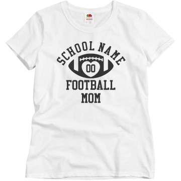 Football Mom Ringer Tee Junior Fit Bella 1x1 Rib Ringer Tee