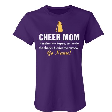 Cheer Mom Junior Fit Bella Sheer Longer Length Rib Tee
