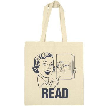 Reading Is Cool Tote Liberty Bags Canvas Bargain Tote Bag