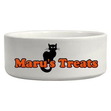 Halloween Cat Bowl Ceramic Pet Bowl