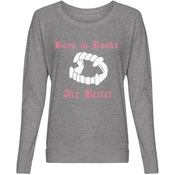Boys in Books Junior Fit Bella Sheer Longer Length Jersey 2-in-1 Tee