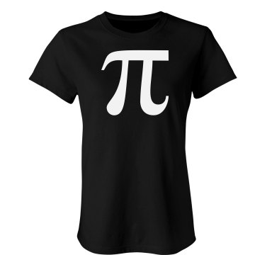 The Pi Symbol Junior Fit American Apparel Fine Jersey Tee