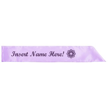 Design Your Own Sash Adult Satin Party Sash