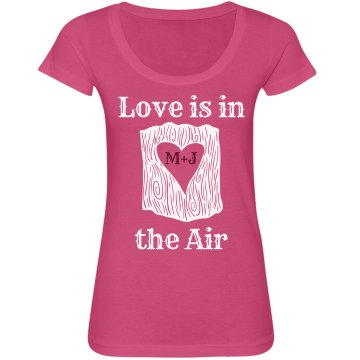 Love is in the Air Junior Fit Bella Sheer Longer Length Scoopneck Tee