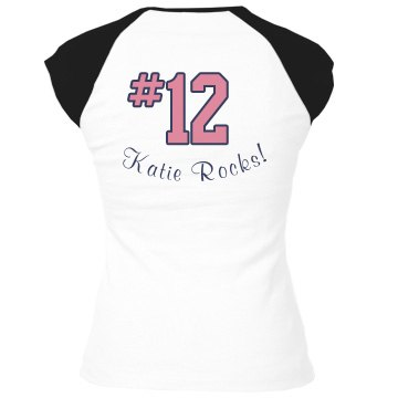 Soccer Tee w/ Back Junior Fit Bella 1x1 Rib Ringer Tee