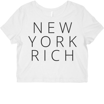 New York Amy Junior Fit Bella Sheer Longer Length Rib Tee