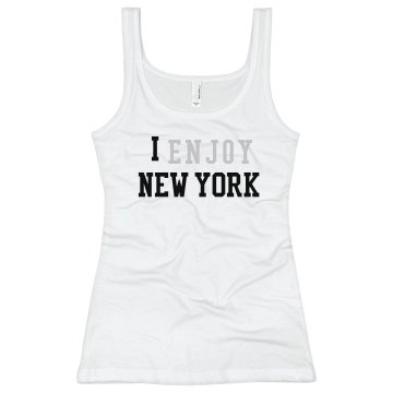 I Enjoy NY Junior Fit Bella Sheer Longer Length Rib Tank Top