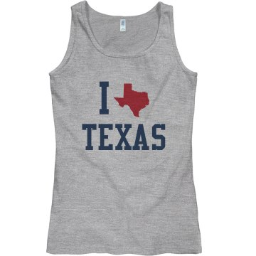 I Heart Texas Junior Fit Bella Sheer Longer Length Rib Tank Top