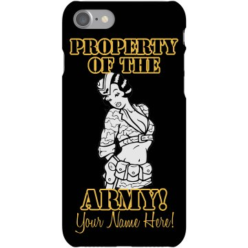 Property of the Army Plastic iPhone 5 Case Black