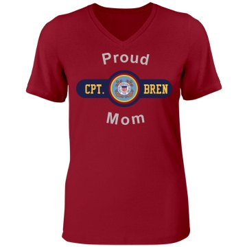 Proud Coast Guard Mom Misses Relaxed Fit Bella Missy V-Neck Tee
