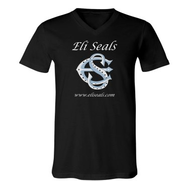 Eli Seals 3005 Unisex Canvas V-Neck Jersey Tee