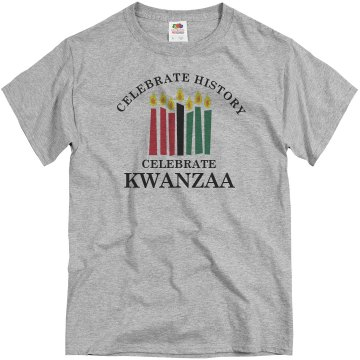Celebrate Kwanzaa Unisex Basic Gildan Heavy Cotton Crew Neck Tee
