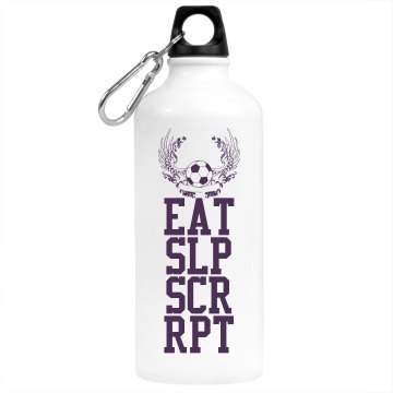 Eat Sleep Soccer Repeat Aluminum Water Bottle