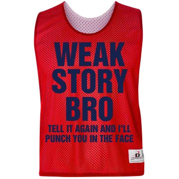 Weak Story Bro Pinnie Badger Sport Lacrosse Reversible Practice Pinnie