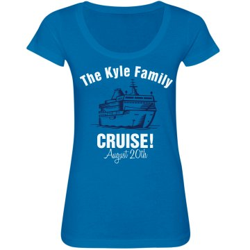 The Kyle Cruise Tee Junior Fit Bella Sheer Longer Length Scoopneck Tee