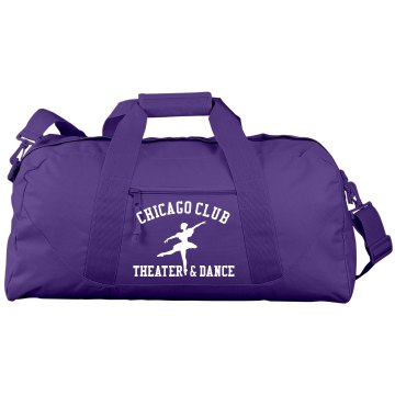 Dance Theatre Gear Bag Port & Company Large Square Duffel Bag