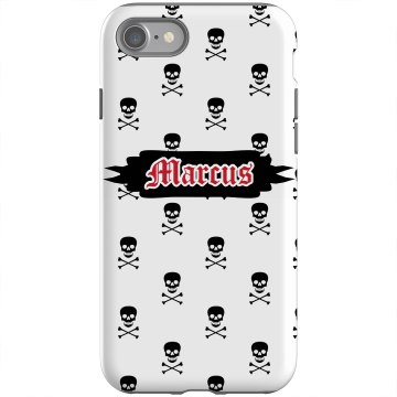 Skulls iPhone Case Rubber iPhone 4 & 4S Case Black