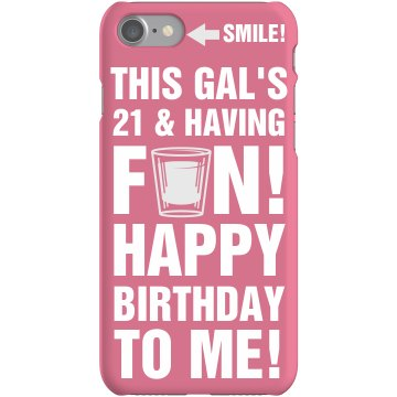 21st Birthday Girl iPhone Plastic iPhone 5 Case Black