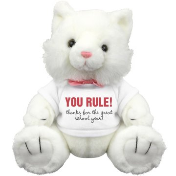 You Rule Teacher! Plush Kitty Cat