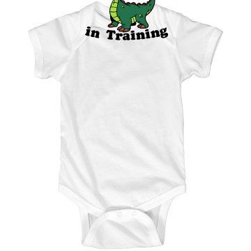 Lil&#x27; Dragon in Training Infant Rabbit Skins Lap Shoulder Creeper