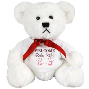 Welcome Baby Bear Plush Baby Shower Teddy Bear