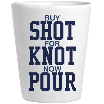 To the Point Bachelor Ceramic Shotglass
