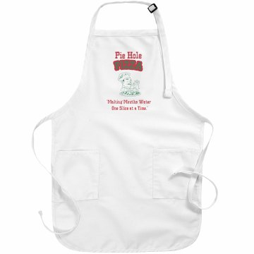 Pie Hole Pizza Apron Basic White Apron